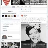 facebooks playfm set of the day billie holiday